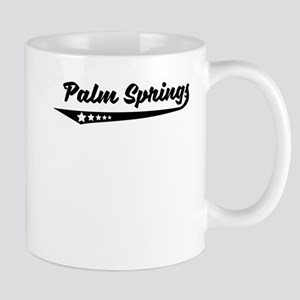 Palm Springs CA Retro Logo Mugs
