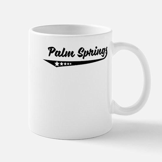 Palm Springs CA Retro Logo Mugs