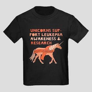 Unicorns Support Leukemia Awareness T-Shirt