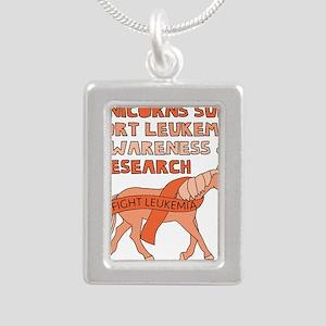 Unicorns Support Leukemia Awareness Necklaces