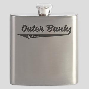 Outer Banks NC Retro Logo Flask