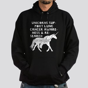 Unicorns Support Lung Cancer Awarene Hoodie (dark)