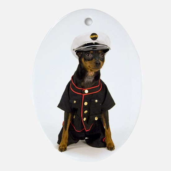 MinPin Marine Oval Ornament