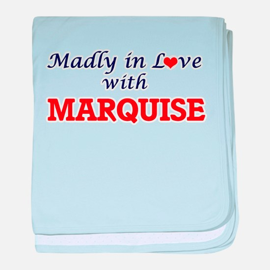 Madly in love with Marquise baby blanket