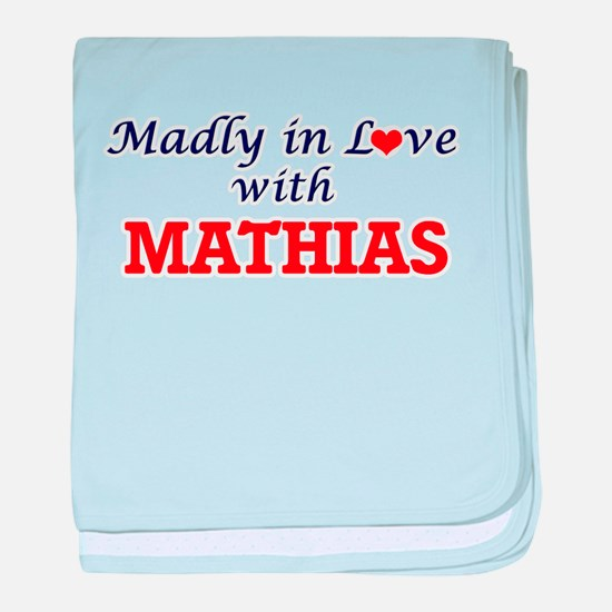 Madly in love with Mathias baby blanket