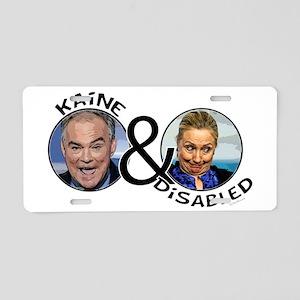 ANTI HILLARY | Kaine and Di Aluminum License Plate