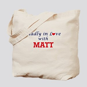 Madly in love with Matt Tote Bag