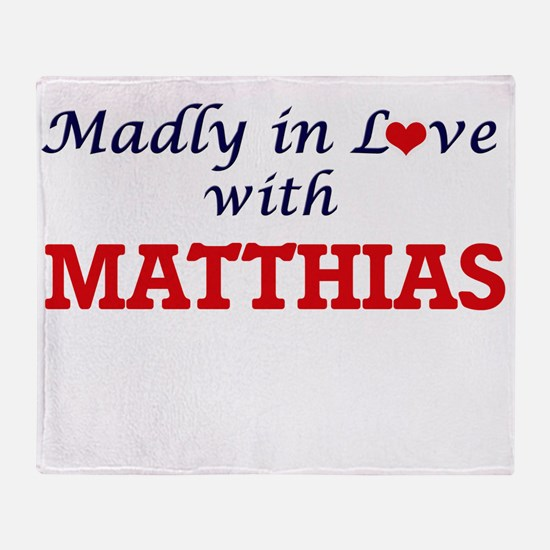 Madly in love with Matthias Throw Blanket