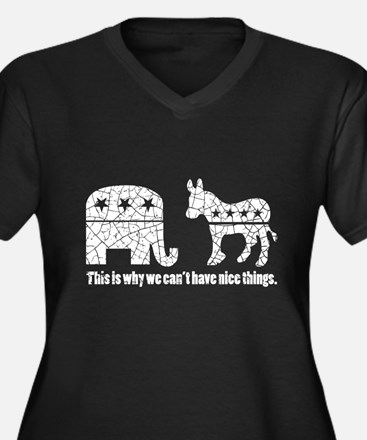 Can't have nice things! White de Plus Size T-Shirt