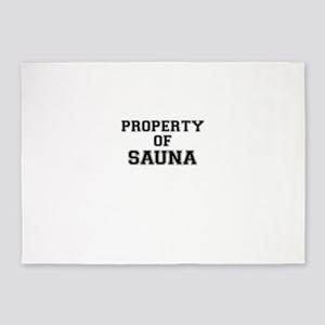 Property of SAUNA 5'x7'Area Rug