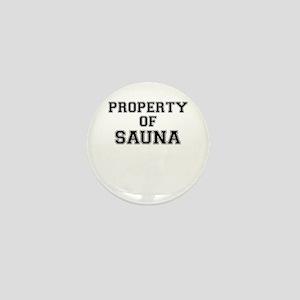 Property of SAUNA Mini Button