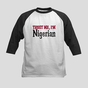 Trust Me I'm Nigerian Kids Baseball Jersey