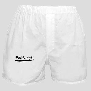 Pittsburgh PA Retro Logo Boxer Shorts