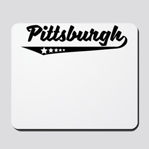 Pittsburgh PA Retro Logo Mousepad