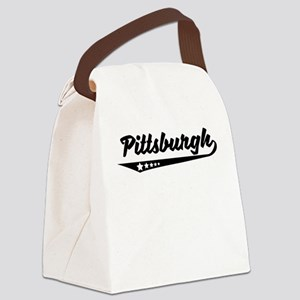 Pittsburgh PA Retro Logo Canvas Lunch Bag