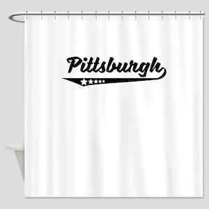 Pittsburgh PA Retro Logo Shower Curtain
