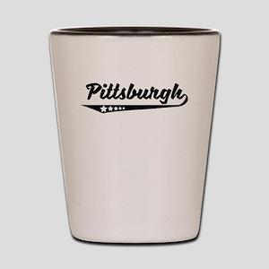 Pittsburgh PA Retro Logo Shot Glass