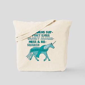 Unicorns Support Knee Injury Awareness Tote Bag
