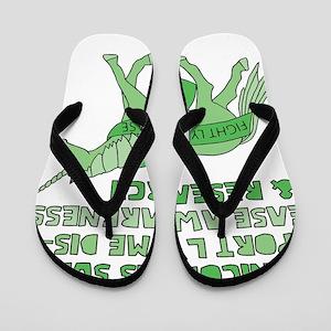 Unicorns Support Lyme Disease Awareness Flip Flops
