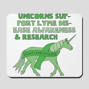 Unicorns Support Lyme Disease Awareness Mousepad