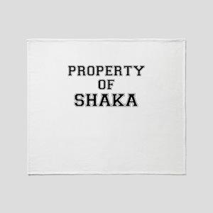 Property of SHAKA Throw Blanket