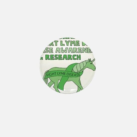 Unicorns Support Lyme Disease Awarenes Mini Button