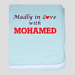 Madly in love with Mohamed baby blanket