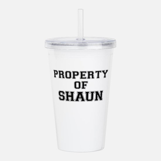Property of SHAUN Acrylic Double-wall Tumbler