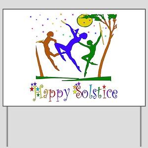 Solstice Dancers Yard Sign