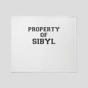 Property of SIBYL Throw Blanket