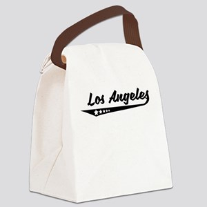 Los Angeles CA Retro Logo Canvas Lunch Bag