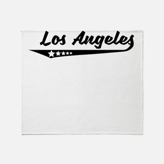 Los Angeles CA Retro Logo Throw Blanket