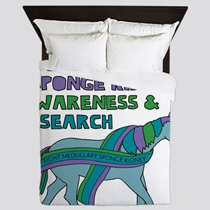 Unicorns Support Medullary sponge kidn Queen Duvet