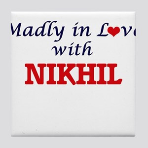 Madly in love with Nikhil Tile Coaster