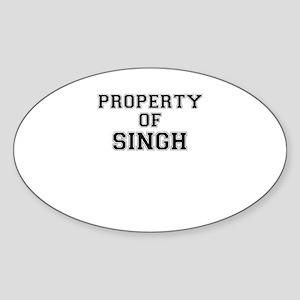 Property of SINGH Sticker