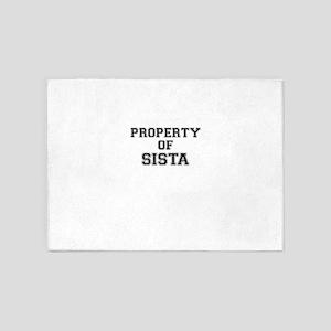 Property of SISTA 5'x7'Area Rug