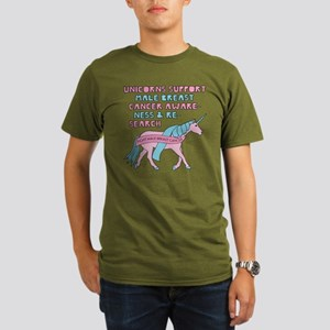 Unicorns Support Male Breast Cancer Awaren T-Shirt