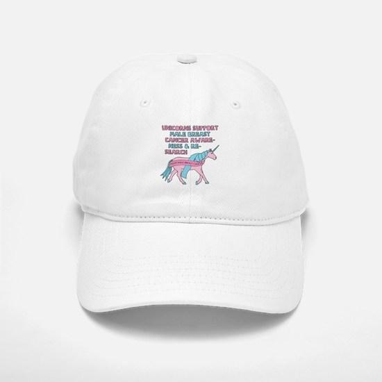 Unicorns Support Male Breast Cancer Awareness Baseball Baseball Cap