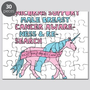 Unicorns Support Male Breast Cancer Awarene Puzzle