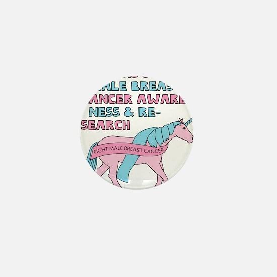 Unicorns Support Male Breast Cancer Aw Mini Button