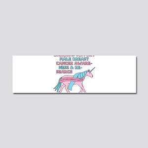 Unicorns Support Male Breast Can Car Magnet 10 x 3