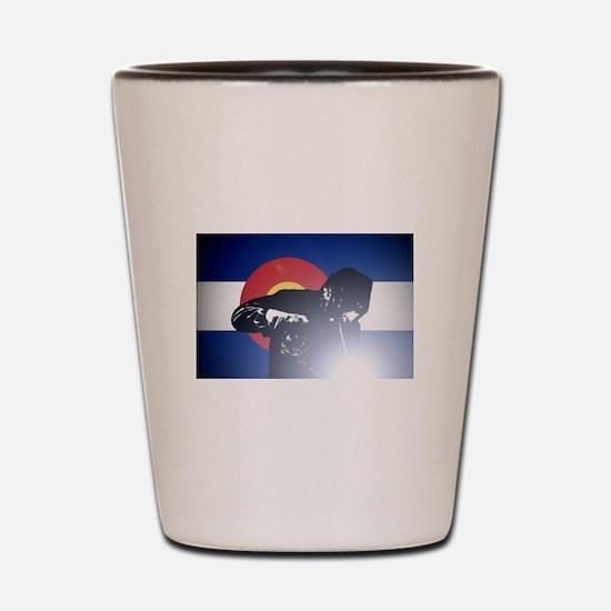 Welding: Colorado State Flag & Welder Shot Glass