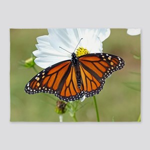 Monarch Butterfly on Cosmos 5'x7'Area Rug