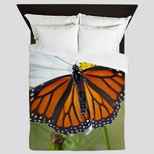 Monarch Butterfly on Cosmos Queen Duvet