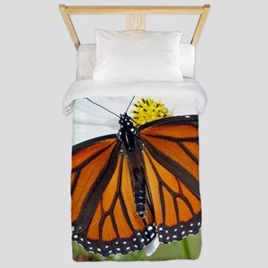 Monarch Butterfly on Cosmos Twin Duvet