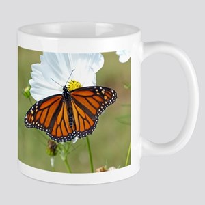 Monarch Butterfly on Cosmos Mugs