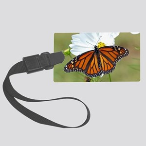 Monarch Butterfly on Cosmos Luggage Tag