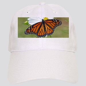 Monarch Butterfly on Cosmos Baseball Cap