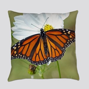 Monarch Butterfly on Cosmos Everyday Pillow