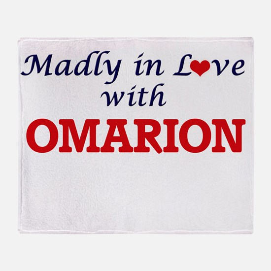 Madly in love with Omarion Throw Blanket